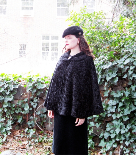bright star black fur cape2