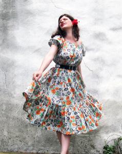 classic peasant dress