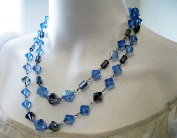 blue crystal necklace byme2